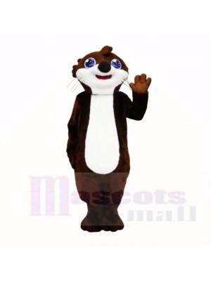 Nutria sonriente de primera calidad Disfraz de mascota