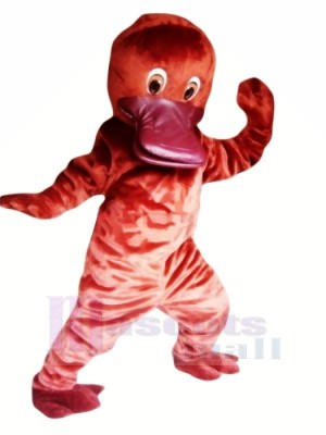Lindo ornitorrinco rojo Disfraz de mascota