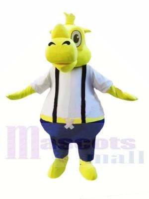 Rinoceronte amarillo Disfraz de mascota