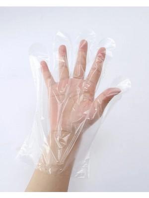100 PCS Disposable Gloves Transparent Plastic