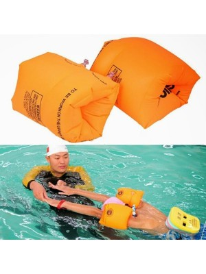 Anillo de brazo de seguridad de natación con mangas de aire inflables de 2 piezas