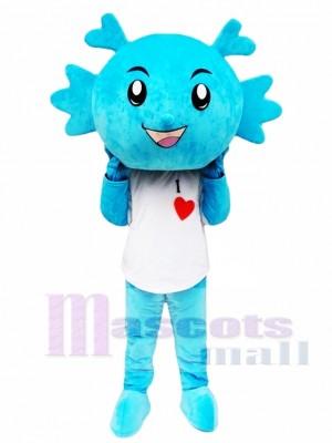 Dragón azul Disfraz de mascota