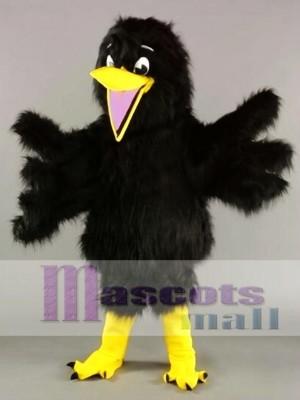 Cuervo de peluche negro Disfraz de mascota