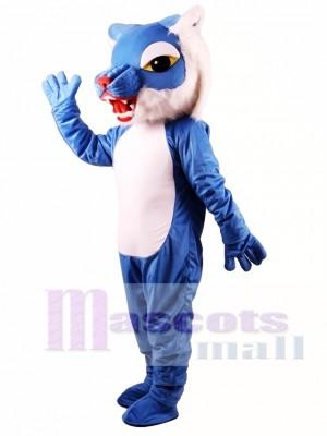 Gato montés poderoso azul Disfraz de mascota