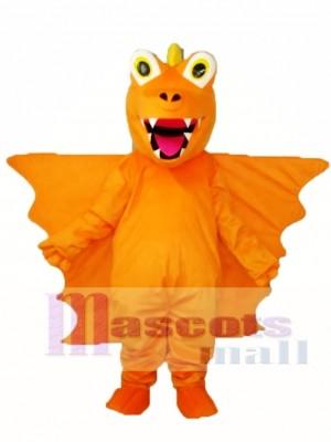 Dragón de Espina Larga Naranja Disfraz de mascota