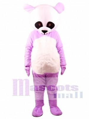 Panda gigante púrpura chino Disfraz de mascota