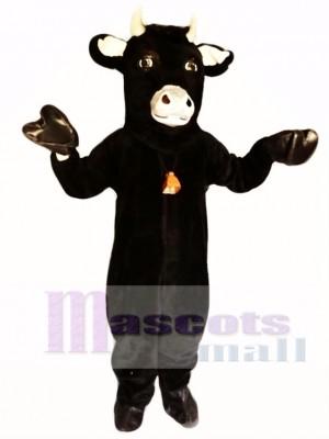 Toro peludo negro Disfraz de mascota