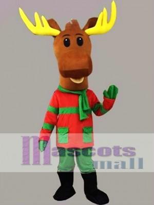 Precioso ciervo navideño Disfraz de mascota