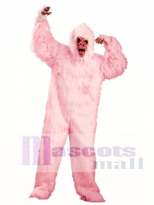 Amo el mono gorila rosado Disfraz de mascota