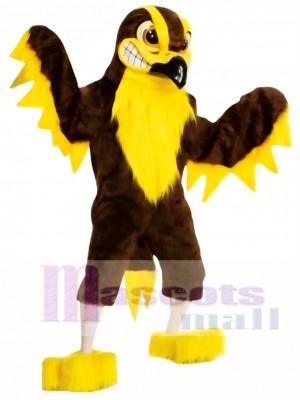 Halcón Águila Marrón y Amarillo Disfraz de mascota