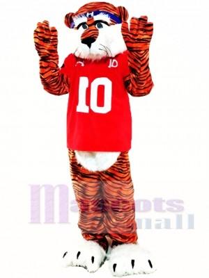 Tigre castaño profesional Disfraz de mascota