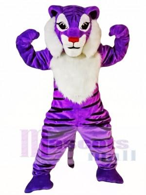 Tigre morado Disfraz de mascota