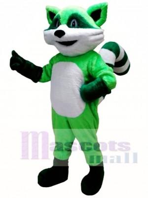 Mapache rocoso verde Disfraz de mascota