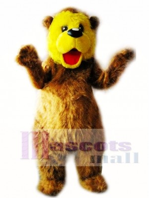 Oso marrón y amarillo Disfraz de mascota