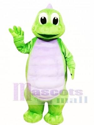 Lindo dinosaurio verde Disfraz de mascota