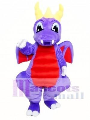 Dragón púrpura Disfraz de mascota