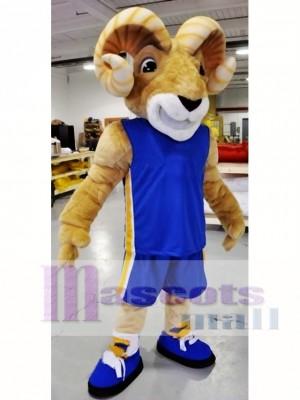 Potente carnero deportivo Disfraz de mascota