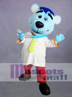 Doctor oso azul Disfraz de mascota