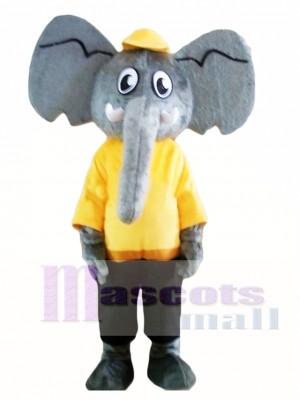 Elefante gris adulto Disfraz de mascota