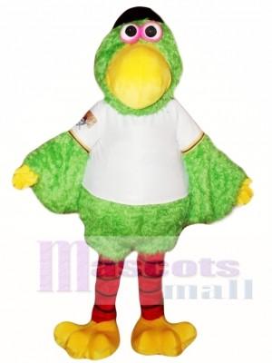 Loro verde Disfraz de mascota