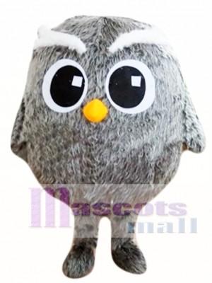 Búho gris con ojos grandes Disfraz de mascota