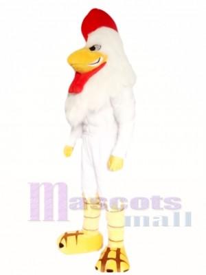 Poderoso Gallo Blanco Disfraz de mascota