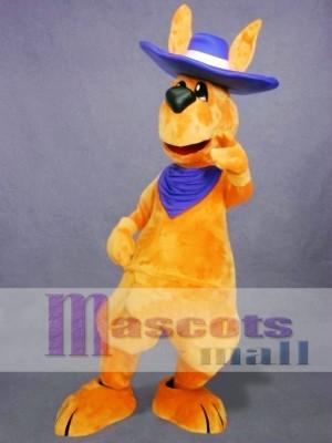 Canguro adulto amistoso Disfraz de mascota