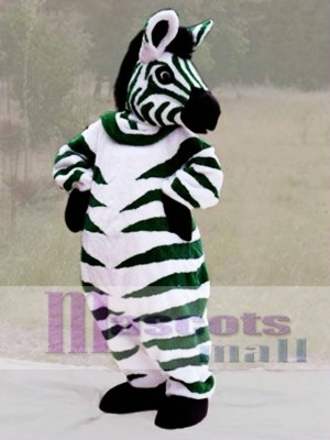Cebra verde Disfraz de mascota