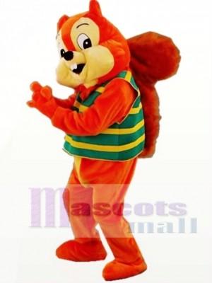 Ardilla linda naranja Disfraz de mascota