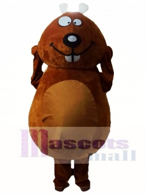 Castor marrón Disfraz de mascota