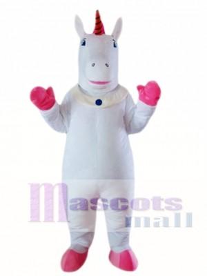 Unicornio blanco Disfraz de mascota