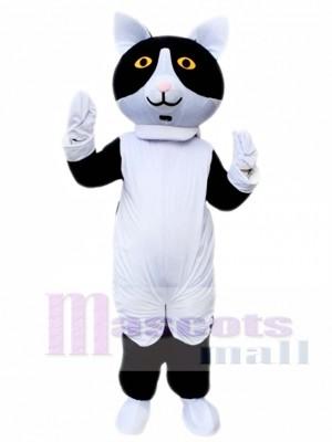 Gato blanco negro Disfraz de mascota