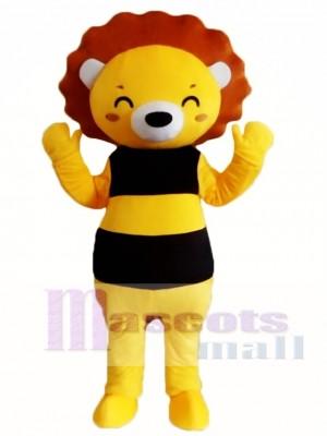 León sonriente de dibujos animados Disfraz de mascota