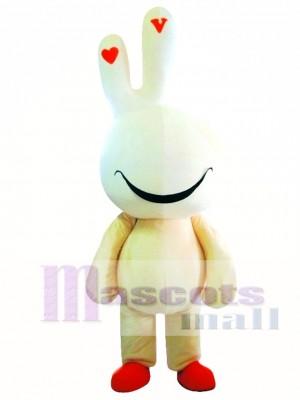 Conejito de Pascua lindo amarillo Disfraz de mascota