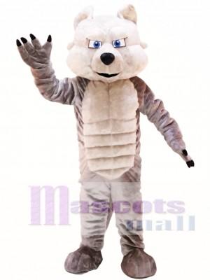 Lobo gris poderoso Disfraz de mascota