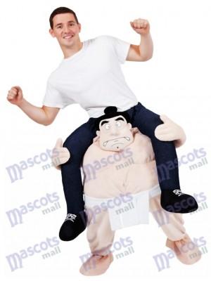 Llévame luchador de sumo japonés Montar a cuestas isfraz de mascota