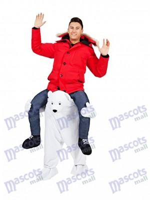 Oso polar Llévame Seguir adelante oso blanco Disfraz de mascota