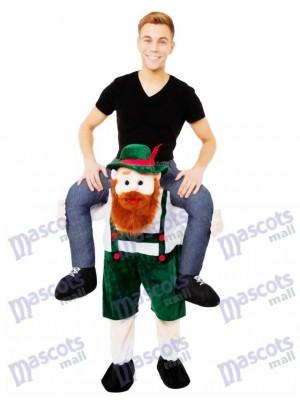 A cuestas Llévame el chico de la cerveza bávara Disfraz de mascota Ride