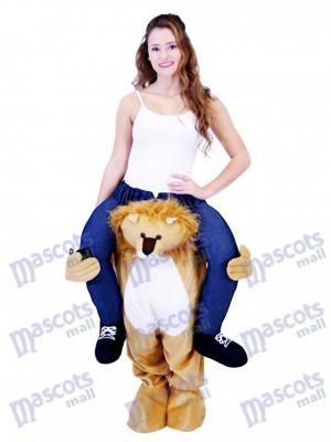 León a cuestas Llévame Seguir adelante León Disfraz de mascota