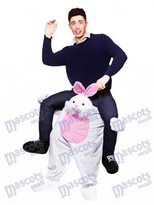 Conejito de Pascua a cuestas Llévame Seguir adelante Disfraz de mascota
