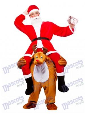 Reno me lleva Papá Noel Navidad Seguir adelante Disfraz de mascota