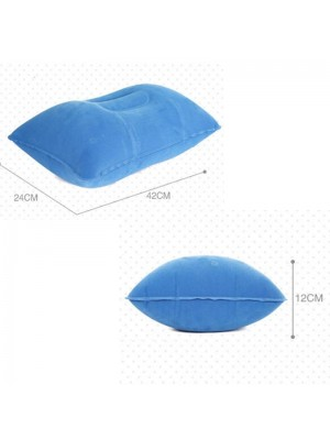 Cojín de flocado de doble cara inflable de viaje al aire libre