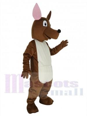 Joey Canguro con orejas rosas Disfraz de mascota Animal