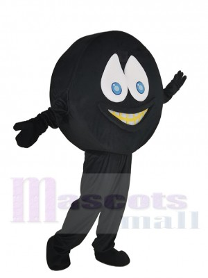 Gracioso Negro Hockey Disco Disfraz de mascota