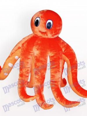 Pulpo naranja adulto Disfraz de mascota