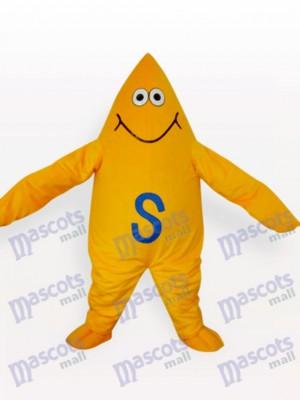 Adulto Estrella de Mar Amarilla Disfraz de mascota