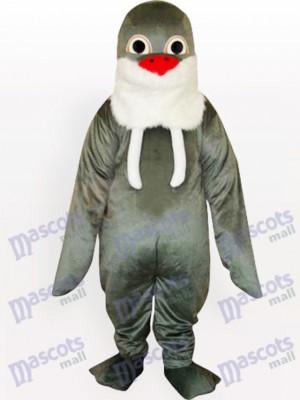 Morsa gris con barba blanca Disfraz de mascota