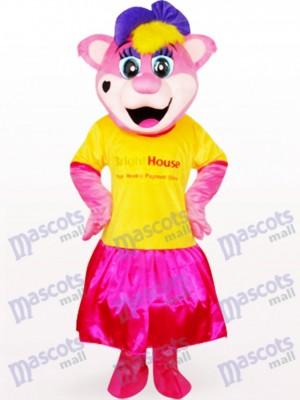 Oso Pipi hembra con ropa con logo Disfraz de mascota animal