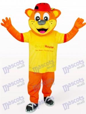 Oso Pipi Macho Naranja en camiseta Disfraz de mascota animal