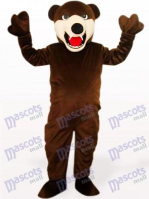 Oso Marrón Oscuro Delgado Disfraz de mascota animal